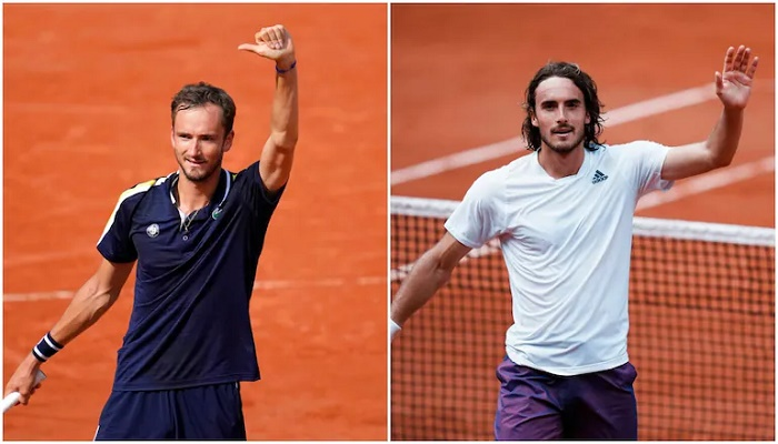 Medvedev, Tsitsipas face off as outsiders sniff French Open chance