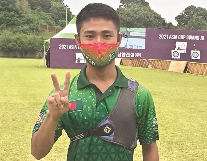 Archer Prodipta loses in quarterfinals in Asia Cup archery