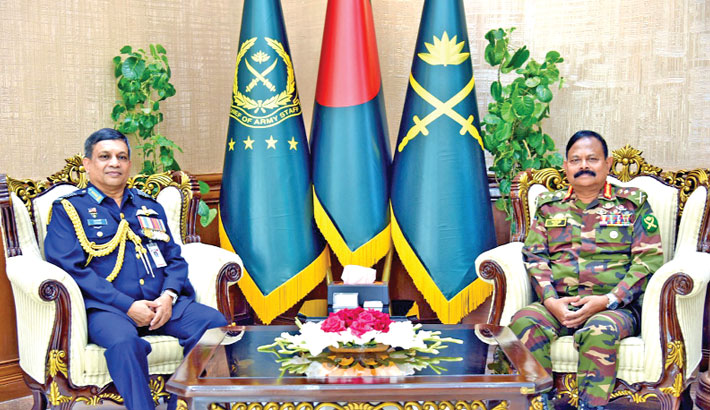 Outgoing air chief meets army chief