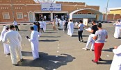 Senior students in Kuwait's public schools arrive for the first day of their graduation exams