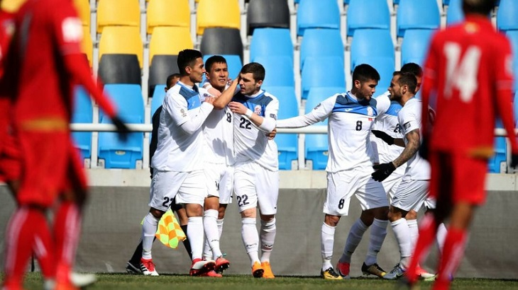 Kyrgyzstan thrash Myanmar despite stand-in goalkeeper
