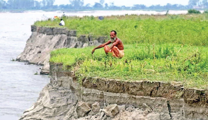 Erosion by the Brahmaputra river has taken a serious turn