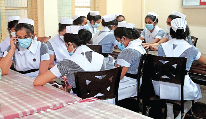 Health workers take part in strike to demand the same incentives doctors
