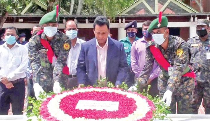 A wreath at the grave of Father of the Nation Bangabandhu Sheikh Mujibur Rahman