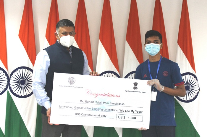 Bangladeshi Youth Shines: Wins Global video blogging Competition conducted by ICCR