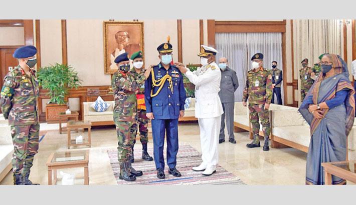 The presence of Prime Minister Sheikh Hasina at Ganabhaban