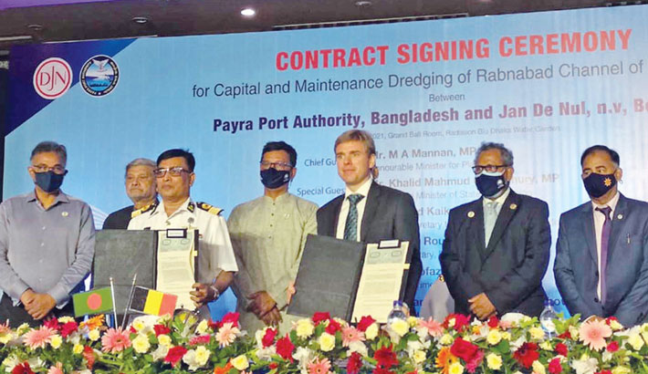 Govt signs deal with Belgian co to dredge Rabnabad channel