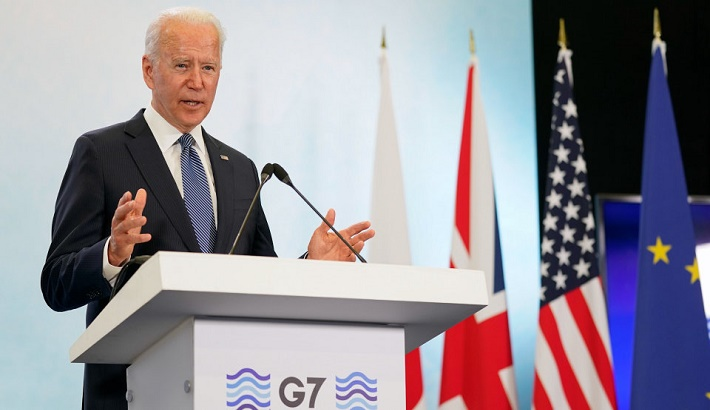 Biden pushes G7 leaders to call out China on forced labour in Xinjiang