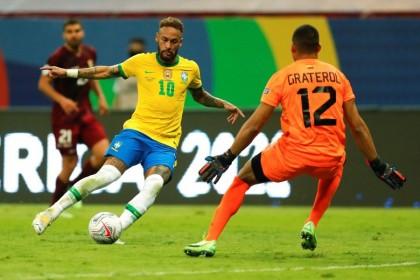 Neymar helps Brazil cruise to Copa win over Covid-depleted Venezuela