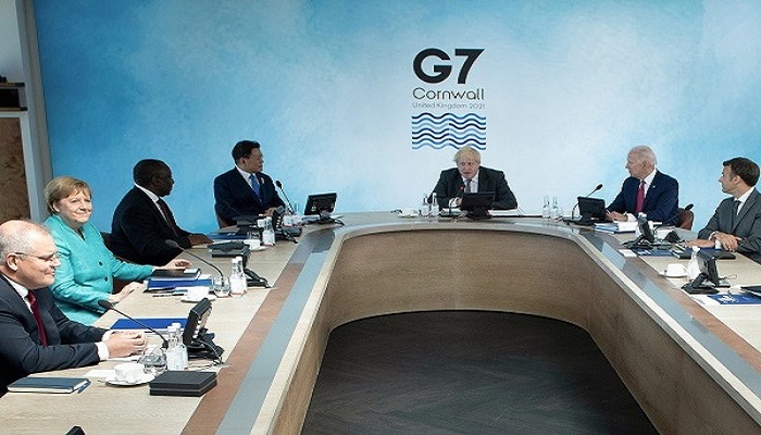 G7 leaders vow to promote shared values by calling out China's actions in Xinjiang, Hong Kong