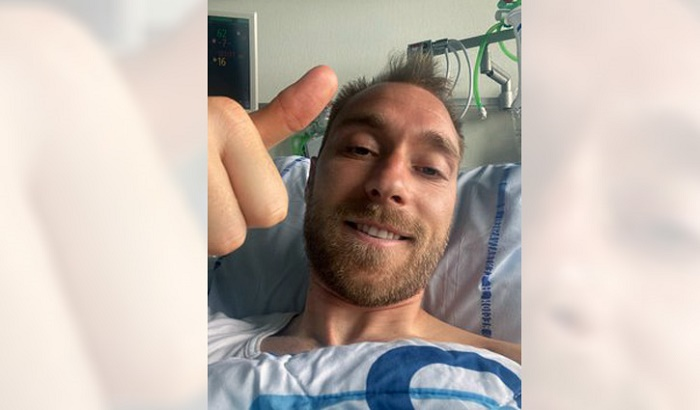 Eriksen sends public thank you message from hospital
