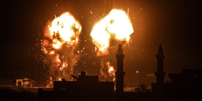 Israel strikes Gaza in response to incendiary balloons