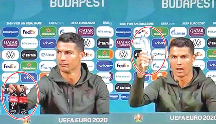 Ronaldo prefers water over Coca Cola