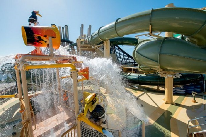 Best cruise ship water parks including the ships with UK sailings this summer