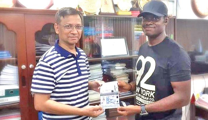 Kingsley finally gets Bangladeshi passport