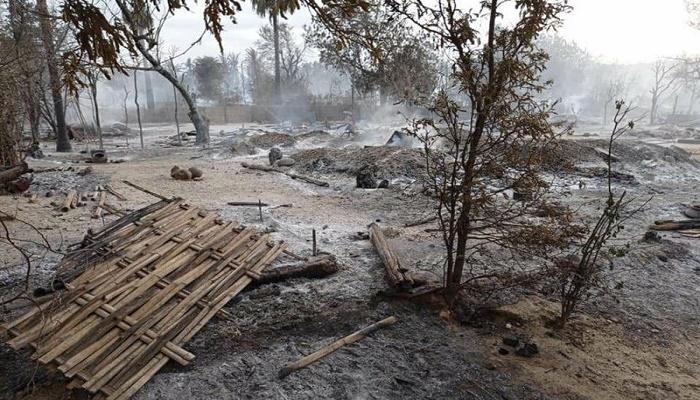 Junta burns Myanmar village in escalating violence