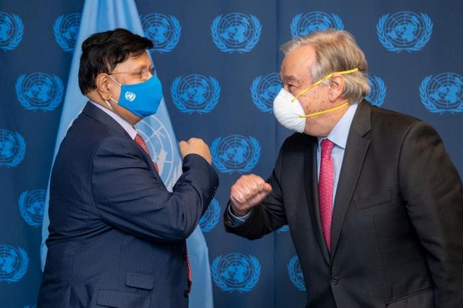FM calls upon UN to ensure affordable access to Covid-19 vaccine for all