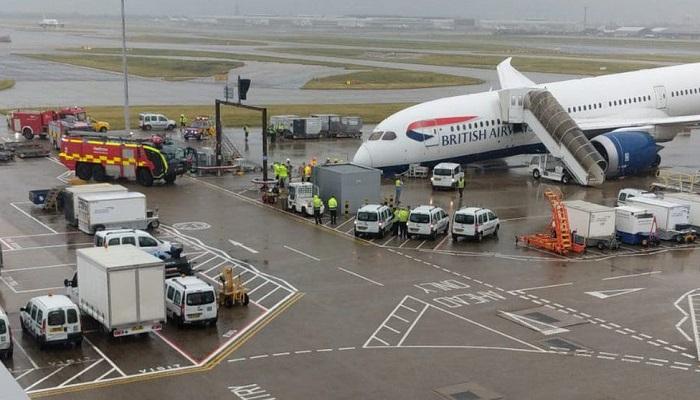 BA plane damaged after tipping forward at Heathrow