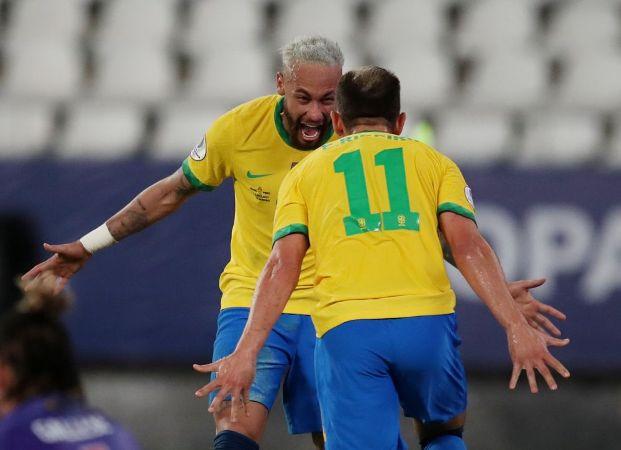 Neymar inspires Brazil to cruise past Peru in perfect Copa start