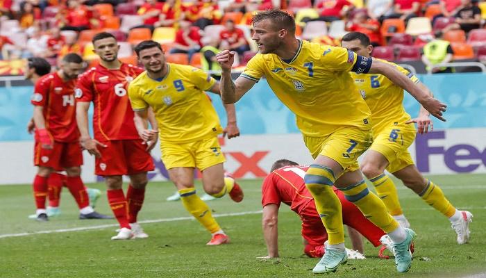 Yarmolenko guides Ukraine to nervy win over North Macedonia