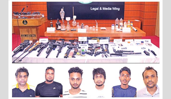 'Meth lab' busted in Uttara; 6 arrested