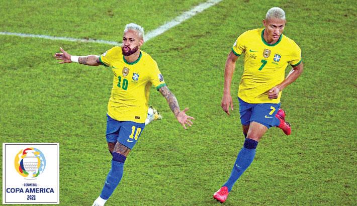 Neymar helps Brazil  maul Peru