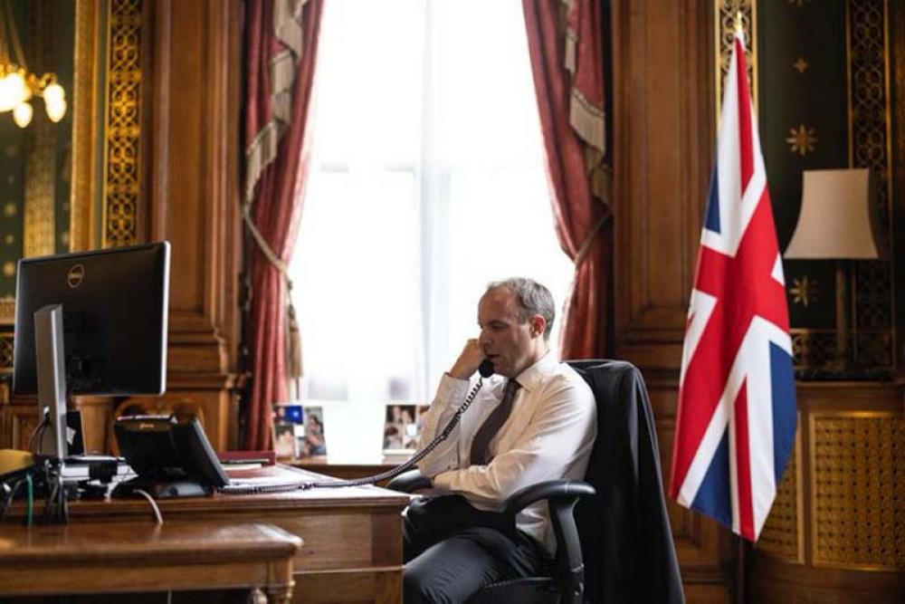 Apple Daily: UK Foreign Secretary Dominic Raab targets China