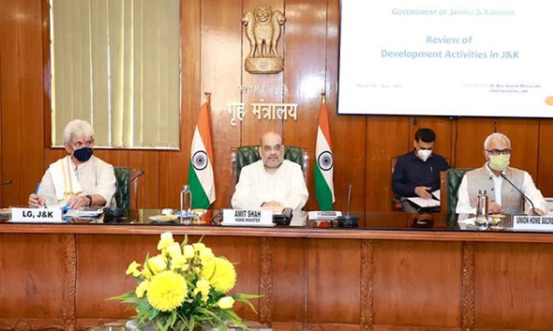 Amit Shah Reviews Jammu and Kashmir's Developmental Projects