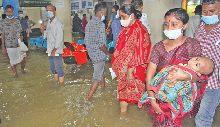 Rain disrupts public life