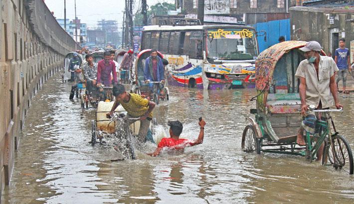 Rain triggers severe waterlogging in Ctg