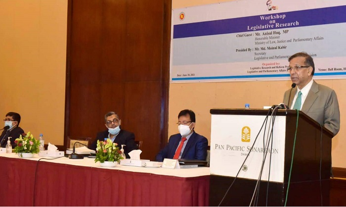 Equitable justice needed for sustainable development: Law Minister