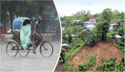 Heavy rainfall in 4 divisions likely, landslide may occur in Chattogram