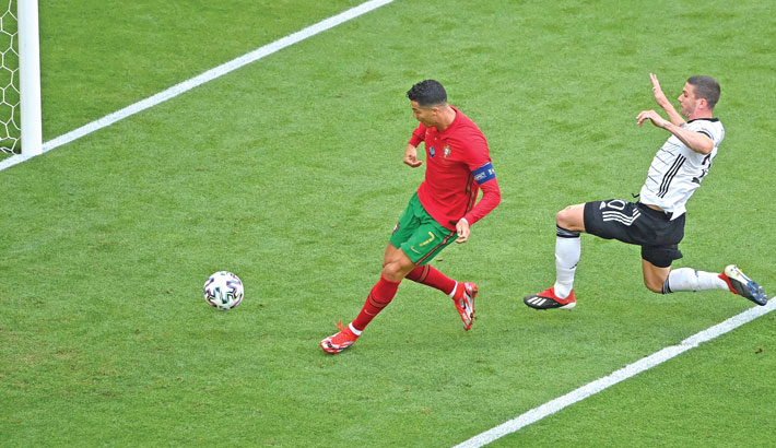 Ronaldo sprints 92m in 14 seconds to score first-ever goal against Germany