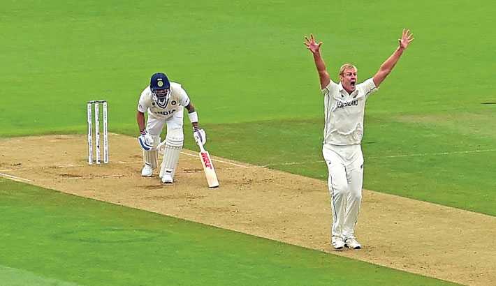 Jamieson bags fifer as India all out for 217