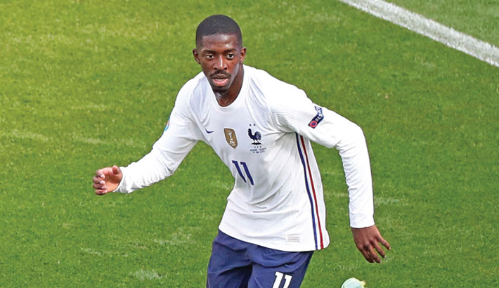 Dembele to undergo knee injury test, says Deschamps