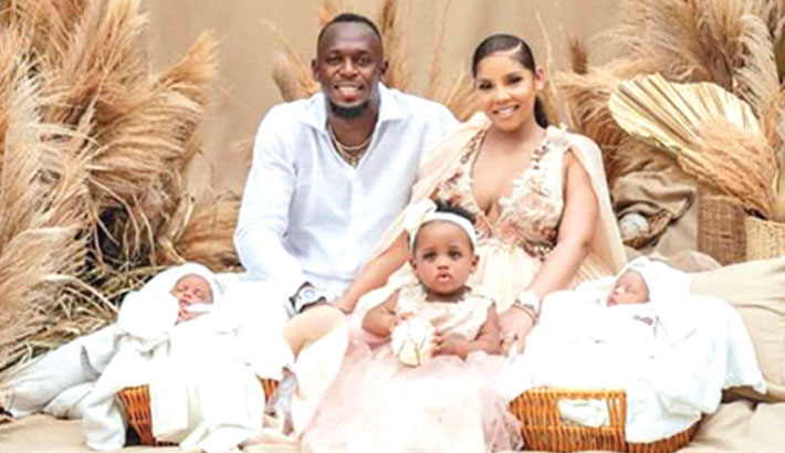 Bolt becomes father of twin boys