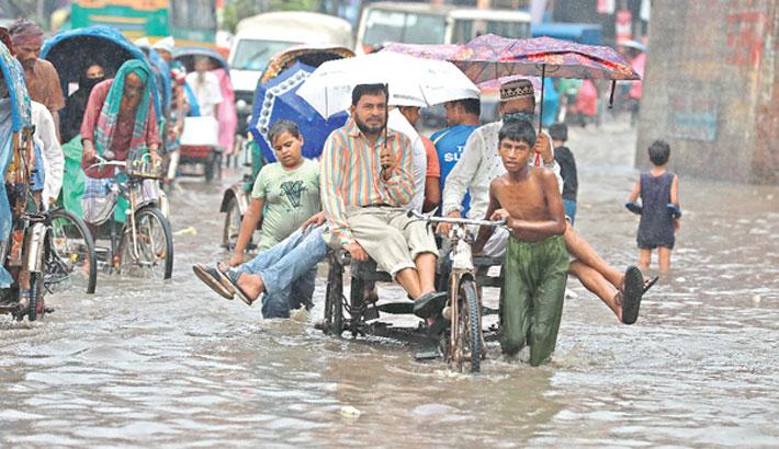 Morning showers drown Dhaka