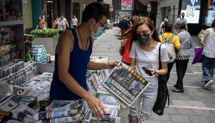 Apple Daily: Hong Kong pro-democracy paper announces closure