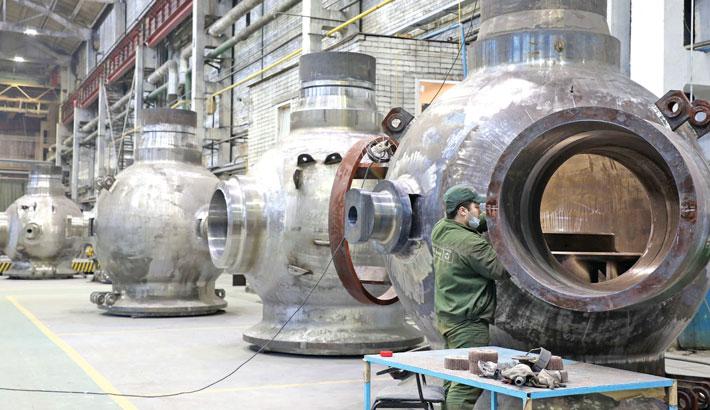 1st pump body of reactor coolant assembled