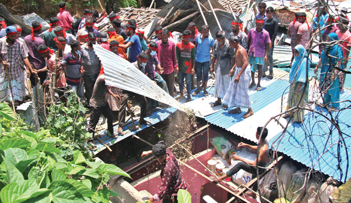 47 structures on hill slopes demolished in Ctg