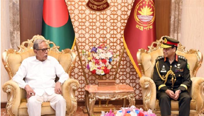 Gen. Shafiuddin calls on President Hamid