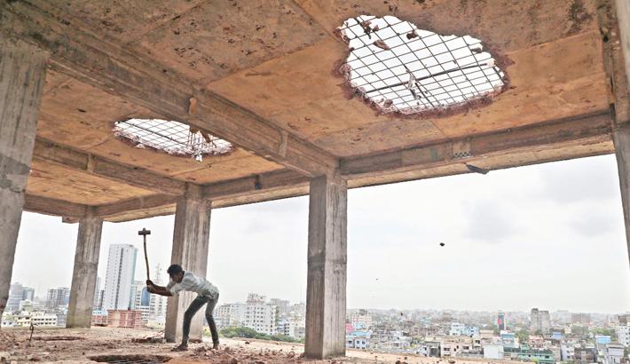 CDA demolishes illegal portions of 13-storey bldg