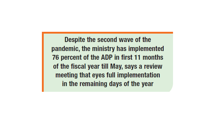 Agriculture ministry's ADP implementation grows 17pc