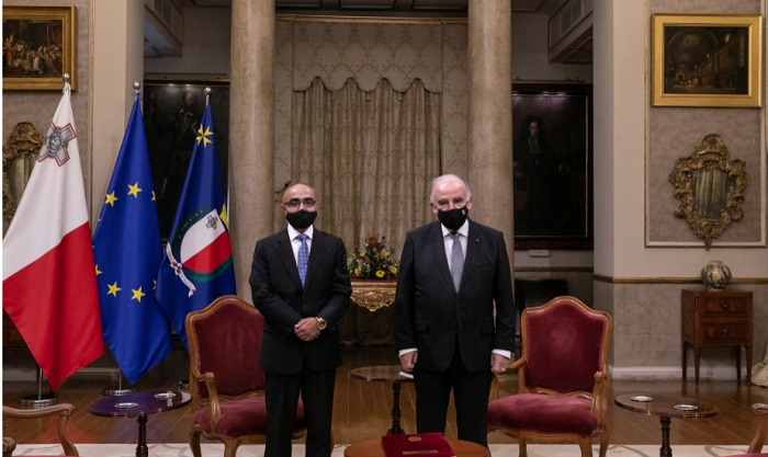 Bangladesh envoy presents Letters of Commission to the President of Malta