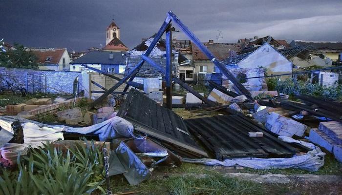 Three dead, dozens injured as rare tornado razes Czech homes