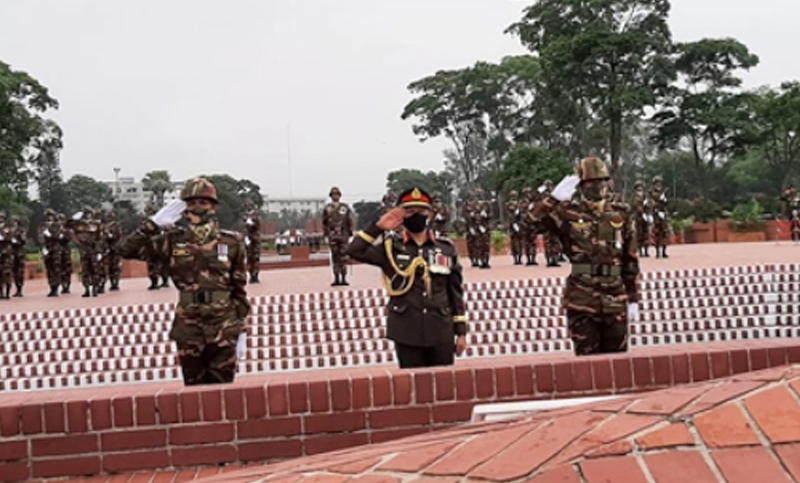 Army chief pays tribute to Liberation War martyrs, Bangabandhu