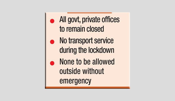 7-day countrywide strict lockdown from Monday