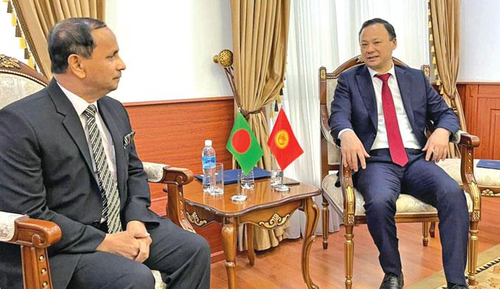 Bangladesh envoy presents credentials to Kyrgyz FM