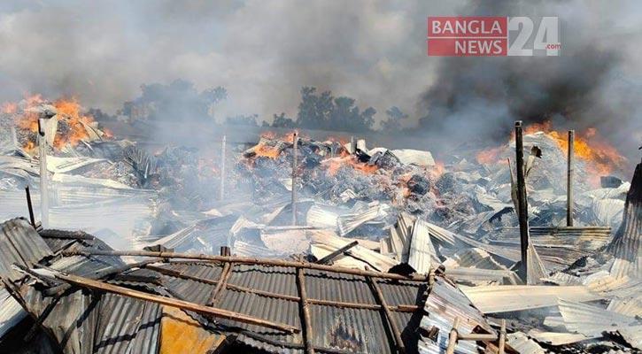 Gazipur jhut godown fire doused