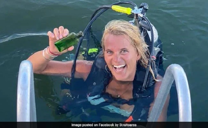 Scuba diver finds message in a bottle from 1926